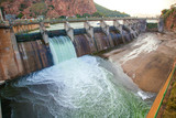Hartebeespoort dam in South Africa, a water sport and holiday destination..