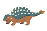 Ankylosaurus vector illustration in cartoon style for kids. Dinosaurs Collection. © asantosg