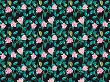 "Постер, картина, фотообои ""hand drawn roses flowers pattern"""