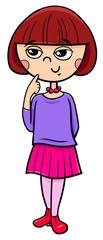 girl character cartoon illustration © Igor Zakowski