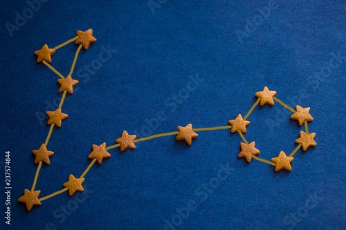 Constellation Pisces on a blue background. - 237574844