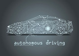 autonomous driving with e-car - circuit board