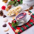 Quadro red barszcz with uszka a polish christmas soup