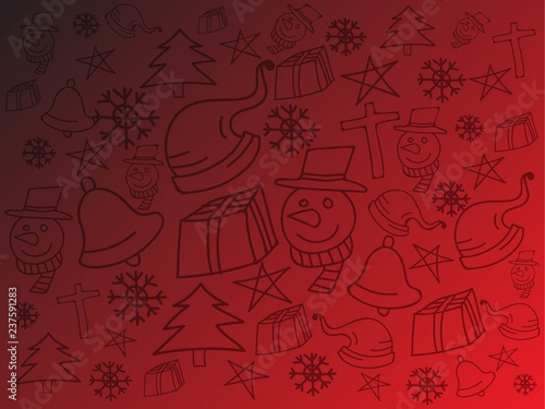 christmas doodle backgrond - 237591283