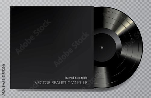 LP vinyl black cover