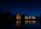 Temple of Debod in Madrid, Spain. - 237593426