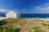 Oia. Traditional building of the Greek Church. - 237596054