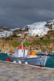 Mykonos. Fishing boats in the bay.