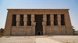 Dendera temple or Temple of Hathor. Egypt. Dendera, Denderah, is a small town in Egypt. Dendera Temple complex, one of the best-preserved temple sites from ancient Upper Egypt. - 237597012