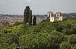 Panoramic view villa Medici in Rome. Italy