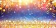 Leinwanddruck Bild - Happy New Year With Glitter And Fireworks