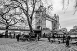 The Tower bridge bench in  in winter