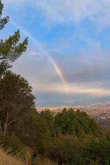 Rainbow at Santa Barbara valley during rain storm © kgrif
