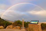 Rainbow at Santa Barbara valley during rain storm © kgrif