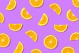 Colorful fruit pattern of orange slices