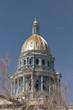 View of Denver Colorado Capitol close up