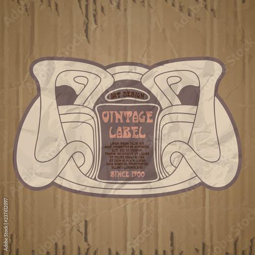 vector vintage items: label Art Nouveau - 237612097