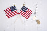 Military Dog Tags and American Flags