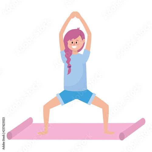 pasuje kobieta uprawiania jogi