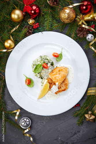 fish with rice - 237631244