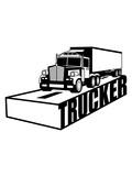 text straße logo truck lkw lastwagen fernfahrer fahren auto transport fahrer trucker groß clipart comic cartoon führerschein lieferant anhänger waren lieferung autobahn