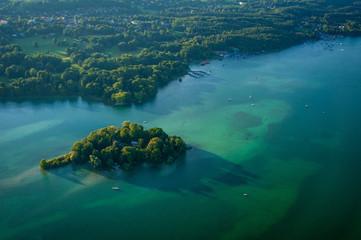 Roseninsel im Starnberger See Oberbayern