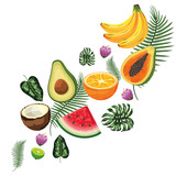 tropical fruits cartoon - 237650664