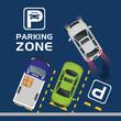 parking zone air view scene - 237651255