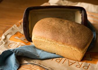 Fresh Whole Wheat Bread Loaf