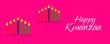 Leinwandbild Motiv Happy Kwanzaa.