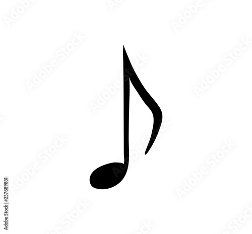 music note. Isolated icon. Symbol of melody