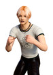 3D Rendering Teenager Boy on White