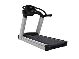 Treadmill for training in the gym 3d render on white background no shadow © Marianna