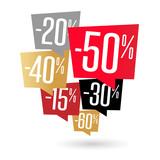 Promo / Pourcentages bulle - 237716061