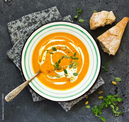 Leinwandbild Motiv Curry Pumpkin Soup......