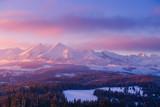 Snowy mountain summits