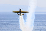 Stunt aircraft in action