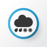 Drizzle icon symbol. Premium quality isolated hail element in trendy style. - 237738868