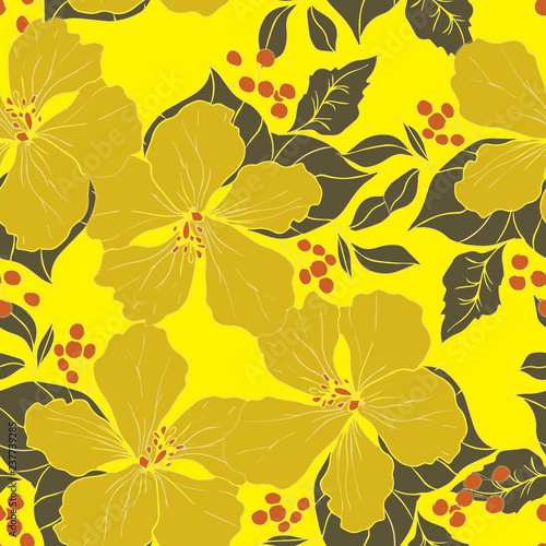Beautiful seamless floral pattern background.  © thitiphorn