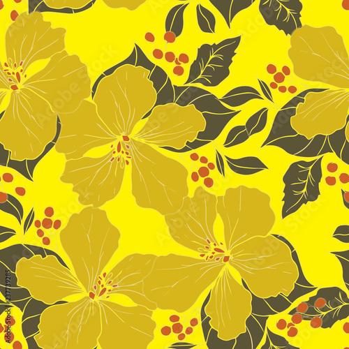 Beautiful seamless floral pattern background.  - 237739285