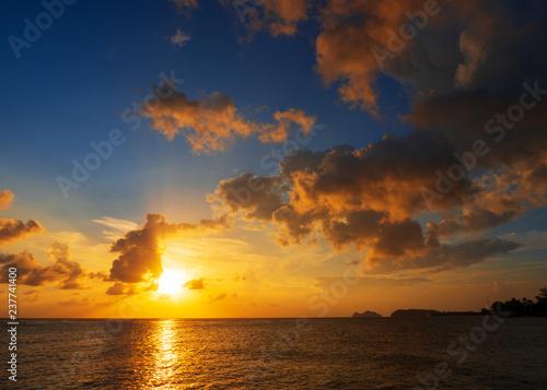 Sunset sky above the sea