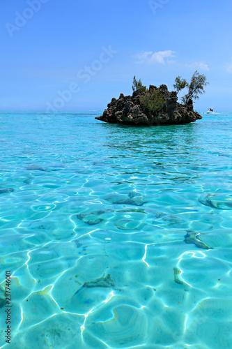 słynna skała w mauritiusie oceanu indyjskiego