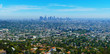 Panoramic landscape of the city of Los Angeles