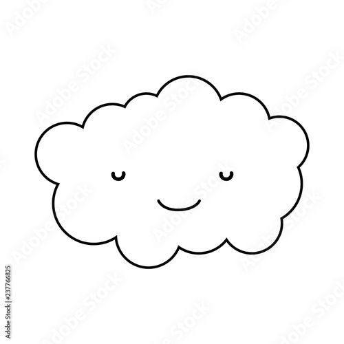 cute cloud kawaii character - 237766825