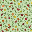 Green meadow with flowers in red, orange and yellow - 237767238
