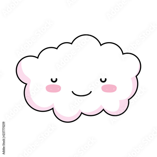 cute cloud kawaii character - 237770219