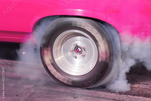 Rubber Flies and Smoke Billows Drag Race Burnout - 237778077