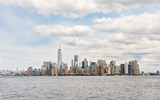 New York, panoramic view of downtown Manhattan