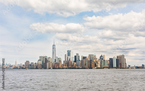 New York, panoramic view of downtown Manhattan