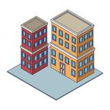 Company buildings isometric - 237786816